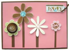 Cardmaking Idea – Lovely Flower Button