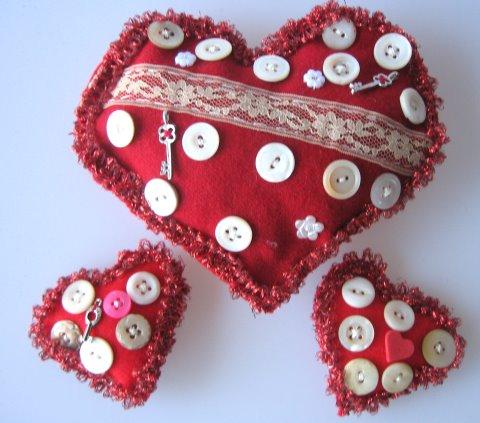 Folk Valentine Hearts