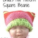 Child's Hat - Square Beanie