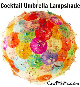 Cocktail Umbrella Lampshade