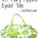 Mary Poppins Eyelet Tote