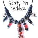 DIY Necklace - Safety Pin & Beads