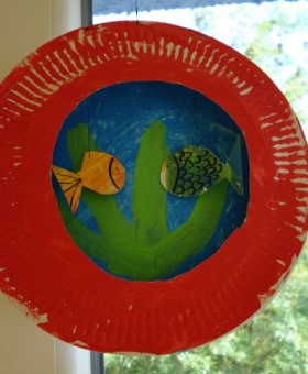 Paper Plate Fish Tank
