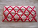 Clutch Bag – Pink Ribbon Quilted