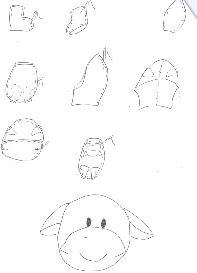 cow sewing pattern1