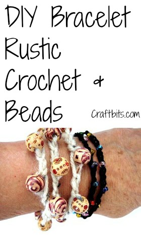 Bracelet – Rustic Crochet & Beads