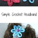 Simple Crochet Headband With Flower