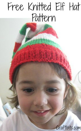 Knitted Christmas Elf Hat