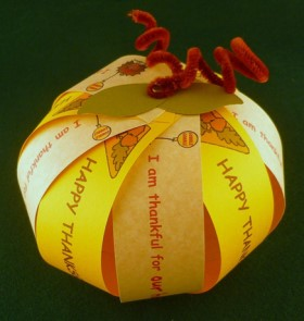 Cardstock ThanksGiving Pumpkin