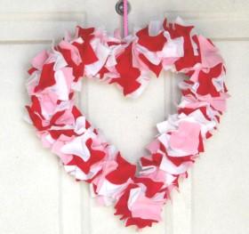 Felt Heart Wreath