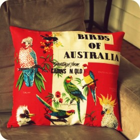Vintage Tea Towel Cushion
