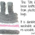 Knitted Tote Made Of Plastic Grocery Bags