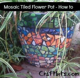 Mosaic Tile Flower Pots