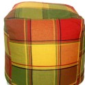 Recycled Vintage Table Cloth Pillow Form Cover