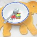 Upcycled Shamwow - Elephant Baby Placemat