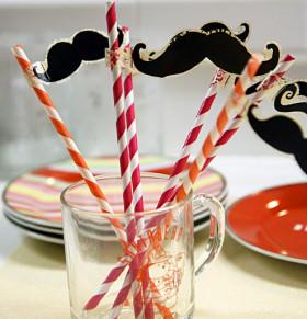 Moustache Party Straws