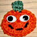 Flat Pumpkin Halloween Pin