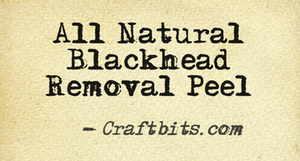 Blackhead Removal Peel