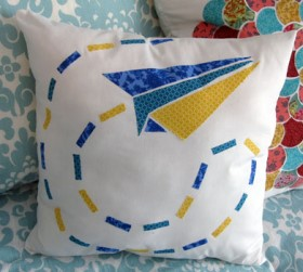 Paper Airplane Throw Pillow