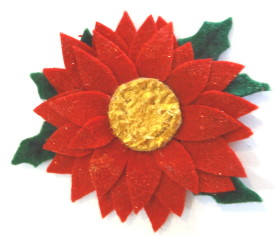 Christmas Brooch – Poinsettia