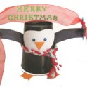 Paper Cup Christmas Penguin