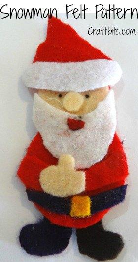 Christmas Brooch: Felt Santa