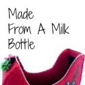Santa's Sleigh From A Milk Bottle