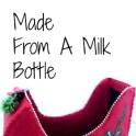 Santa's Sleigh From A Milk Bottle