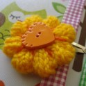 Hair Clip - Knitted Flower