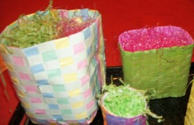 Easter Baskets -Woven Paper