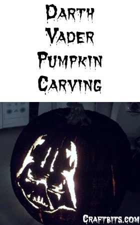 Darth Vader Pumpkin Carving