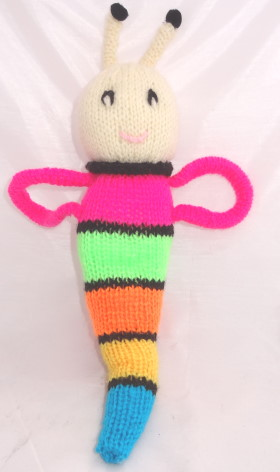 Glow Worm Knitted Pattern