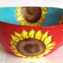Paper Mache Bowl - Sunflowers