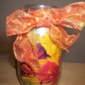 Autumn Leaves and Potpourri Jar