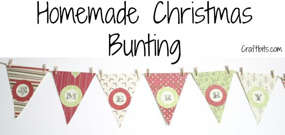 Homemade Christmas Bunting