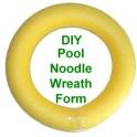 DIY Pool noodle wreath form