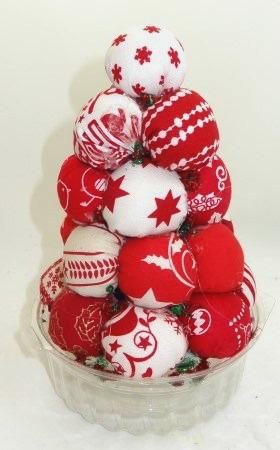 Christmas Tree Made With Fabric Balls