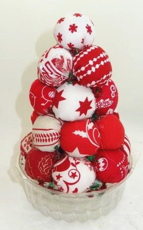 Christmas Tree Made With Fabric Balls