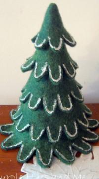 Feltro di Natale Albero di impilamento