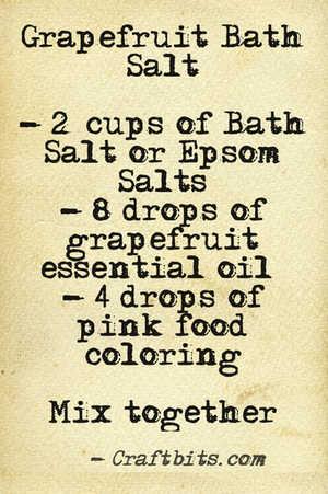 bath salt grapefruit recipe