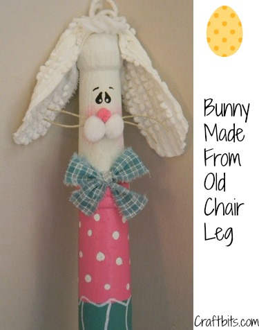 Recycled Chair Leg – Easter Bunny