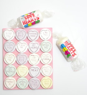 Quick Valentine's Day Craft: Candy Coaster