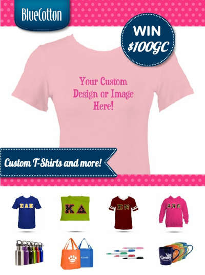 Win a $100 coupon to design your own custom t-shirt, tote bag or more!