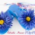 Flower Flip Flops {Patriotic Colors}
