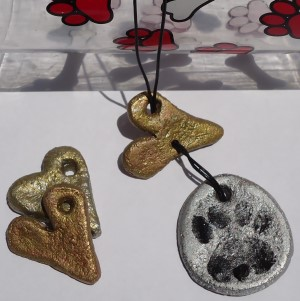 Salt Dough Puppy Love Necklace