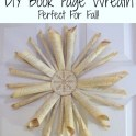 DIY Book Page Wreath