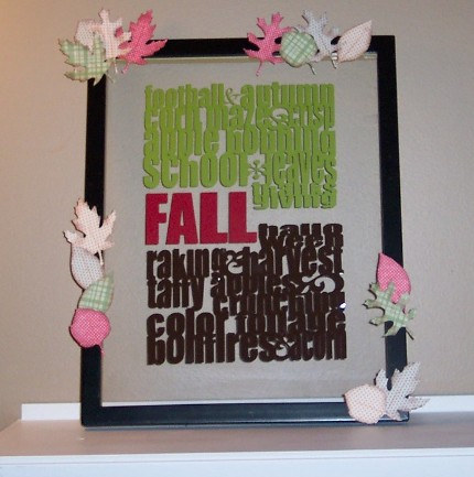 DIY Fall Subway Art