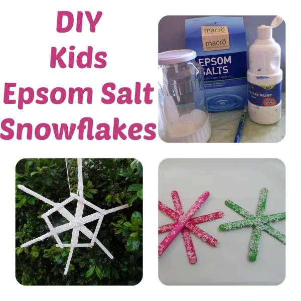 Christmas Tree Decoration: Epsom Salts Snowflakes
