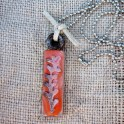 Altered Glass Tile Pendant Necklace