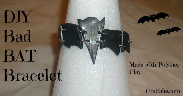 Polymer Clay Bad Bat Bracelet